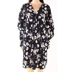 Lauren by Ralph Lauren Black Floral Dress Sz   M